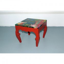 Tavolino rosso wood made
