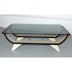 Tavolino in vetro wood made