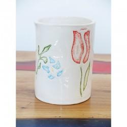Vaso Con Intaglio Di Tulipano